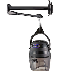 Pibbs 515 Kwik Dry Salon Dryer Black with Wall Arm