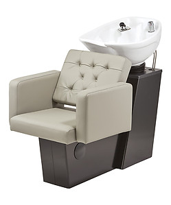 Pibbs 5222W Fondi Backwash with Slide System - White or Black Bowl Option