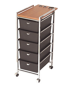 Pibbs D29WD 5 Tier Cart with ART70 Topper BL (black) or WD (wood)