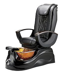 Pibbs PS65 San Marino Pipeless Pedicure Spa w/ Glass Bowl and Shiatsu Massage Chair Top